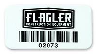 Polyester Barcode Labels with Logo